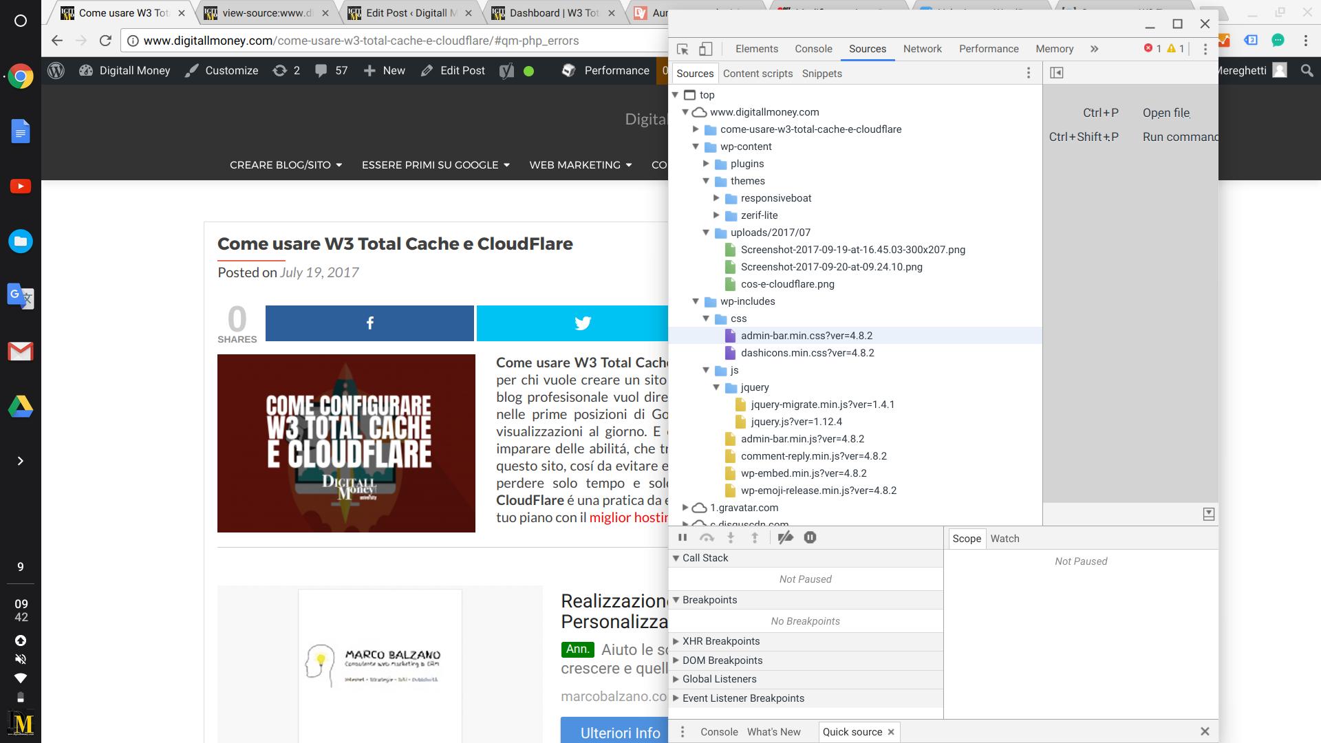 Come usare W3 Total Cache e CloudFlare